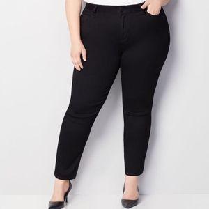 Avenue Butter Denim Straight Leg Black Jeans NWT
